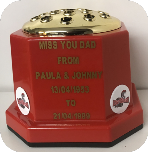Leigh Centurions Rugby personalised grave pot (1)